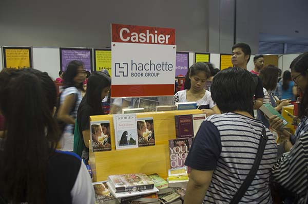 Inside National Bookstore booth
