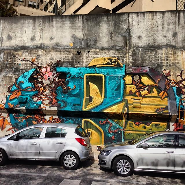 Street Art Mural By Pixel Pancho For Underdogs On The Streets Of Lisbon, Portugal. 4