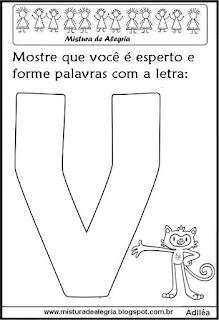 Mascote Vinícius, formando palavras