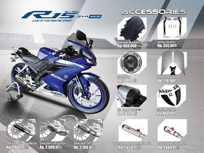 Daftar Harga Aksesoris resmi All New Yamaha R15