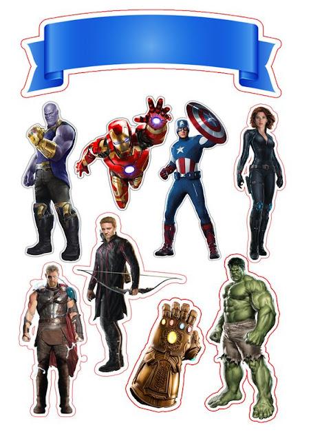 Avengers Endgame Free Printable Cake Toppers.