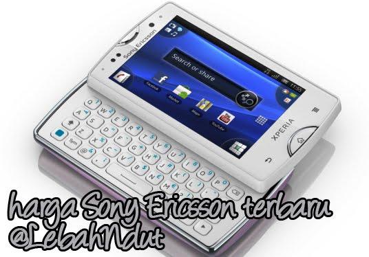Daftar Harga Ponsel Sony Ericsson Baru Bekas Terlengkap