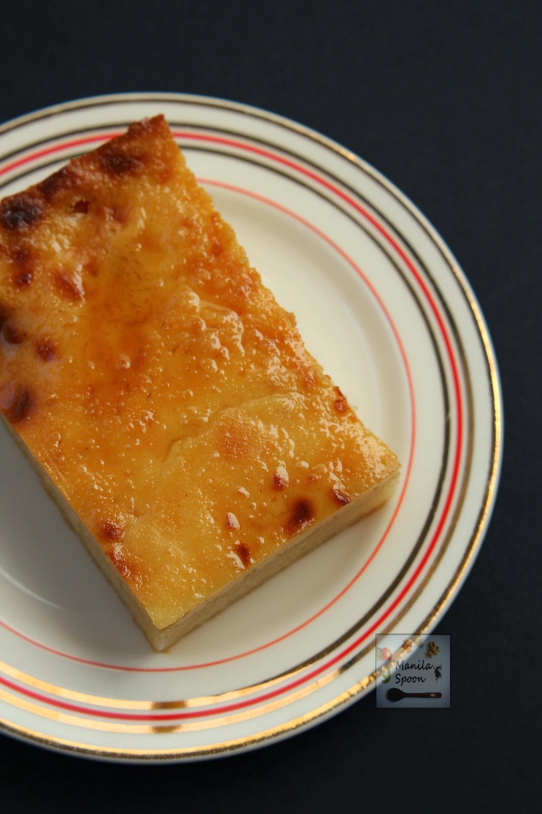 filipino cassava cake cassava cake with custard topping manila spoon 4064
