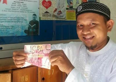 Dasar Edan, Uang Palsu Dipakai Berinfaq di Masjid At Taqwa