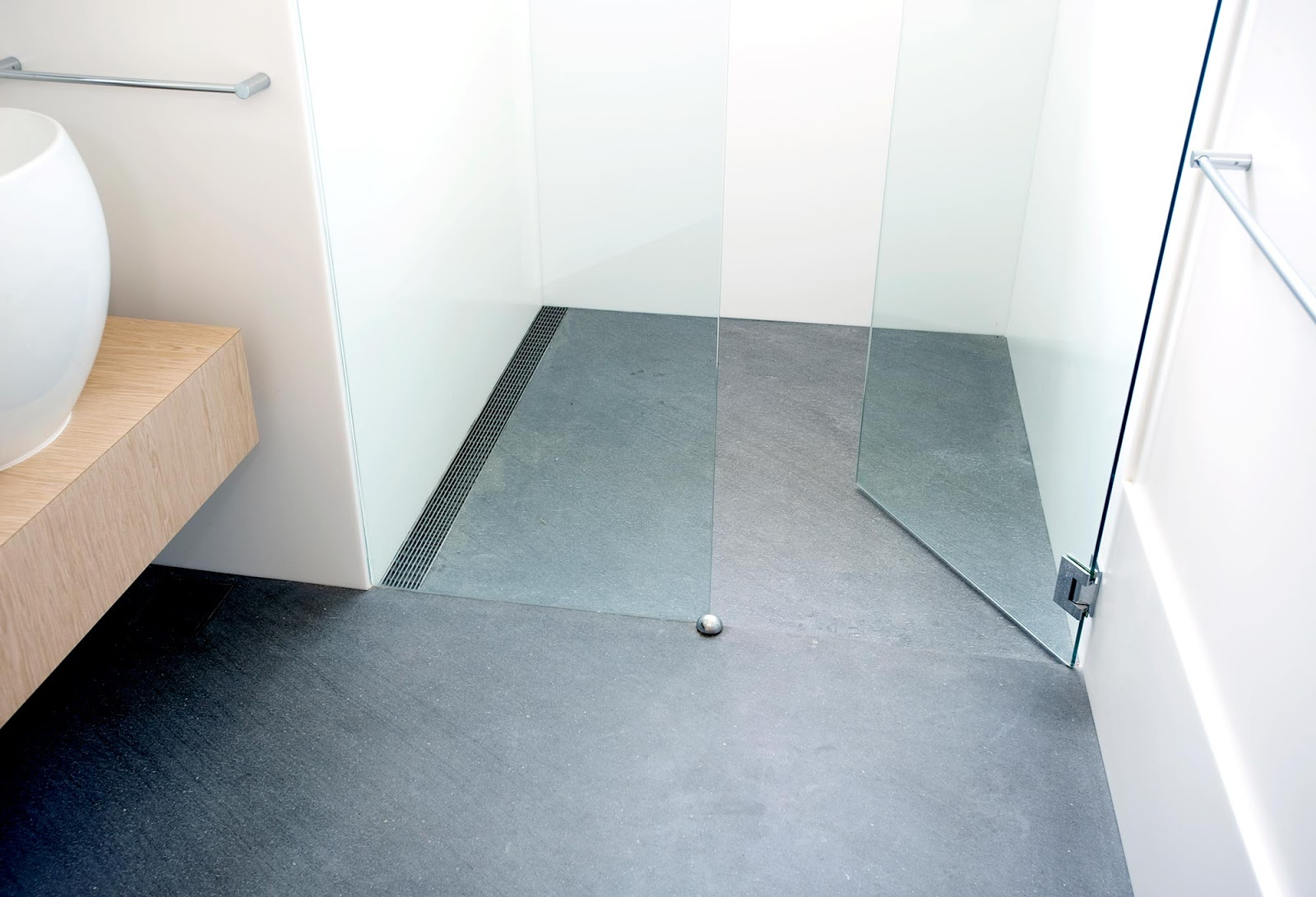 Fiorito Interior Design The Shower Drain Now You See It