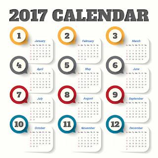 2017カレンダー無料テンプレート130