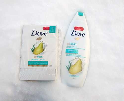 GO Fresh Body Wash and/or the beauty bar in Pear and Aloe
