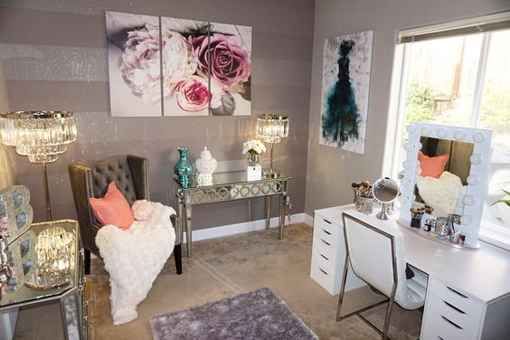 Beauty Room Inspiration - Beauty With Lily on Make Up Room Ideas  id=88902