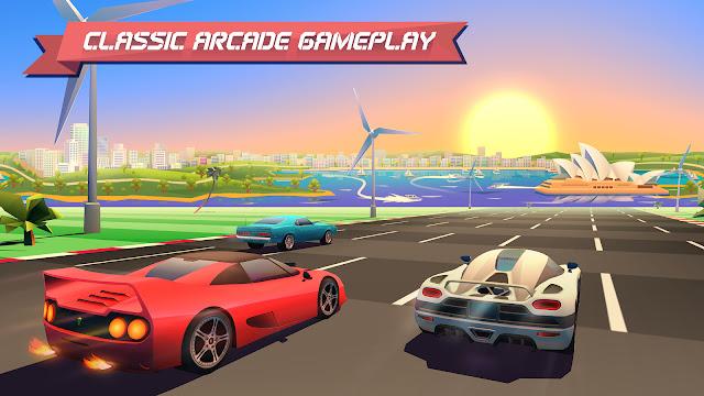 لعبة سباق السيارات للأندرويد Horizon Chase