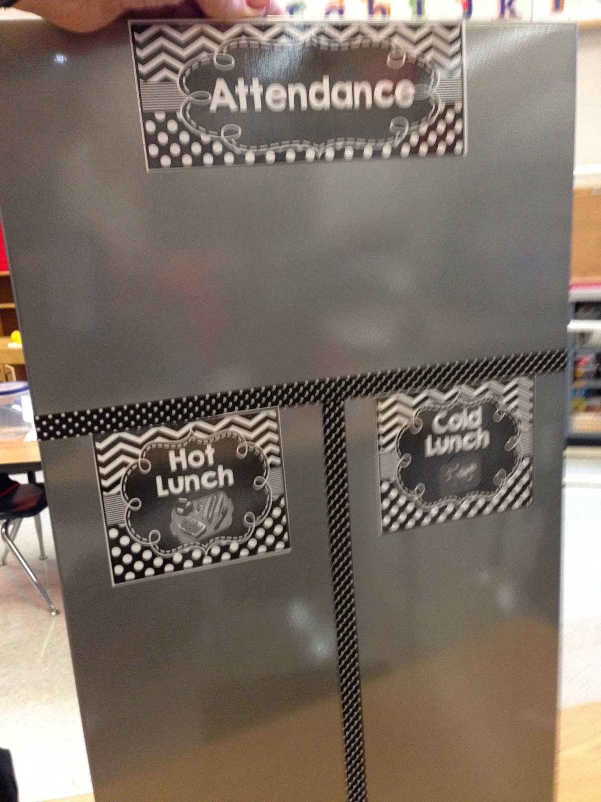 attendance boards, lunch count board, student check in, kindergarten lunch