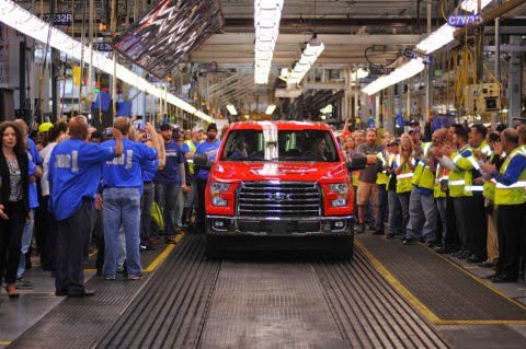 First All-New 2015 F-150 Rolls Off Assembly Line