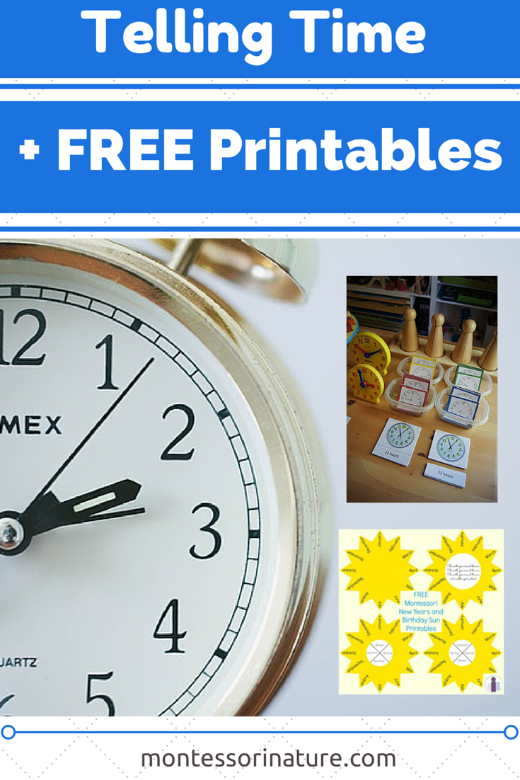 telling time with free printables resources for the montessori classroom montessori nature. Black Bedroom Furniture Sets. Home Design Ideas