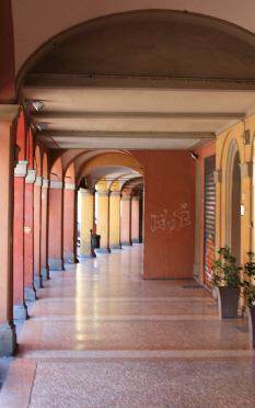 Sidewalk in Bologna