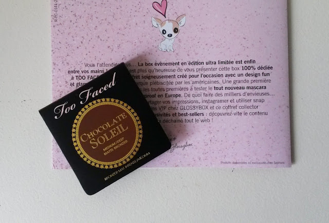 Glossybox Too Faced bronzer chocolate soleil