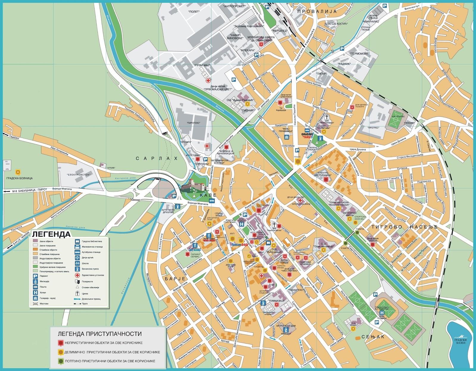 pirot mapa Udruženje osoba sa hendikepom