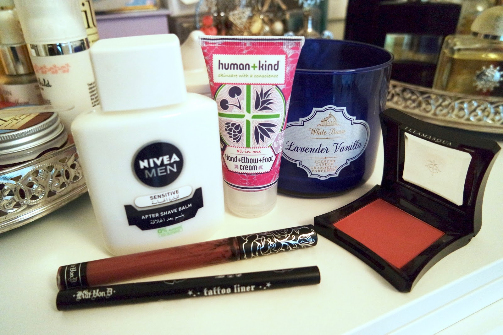 illamasqua kat von d nivea human kind bath and body works