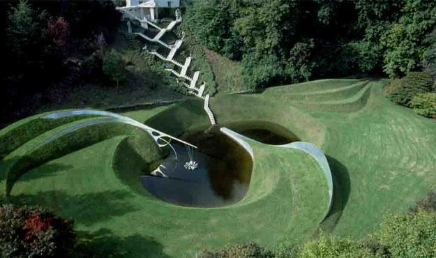 Image result for The Garden of Cosmic Speculation, Scotland