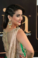 Manjusha in Beautiful Sleeveless Green Anarkali dress at IIFA Utsavam Awards 40.JPG