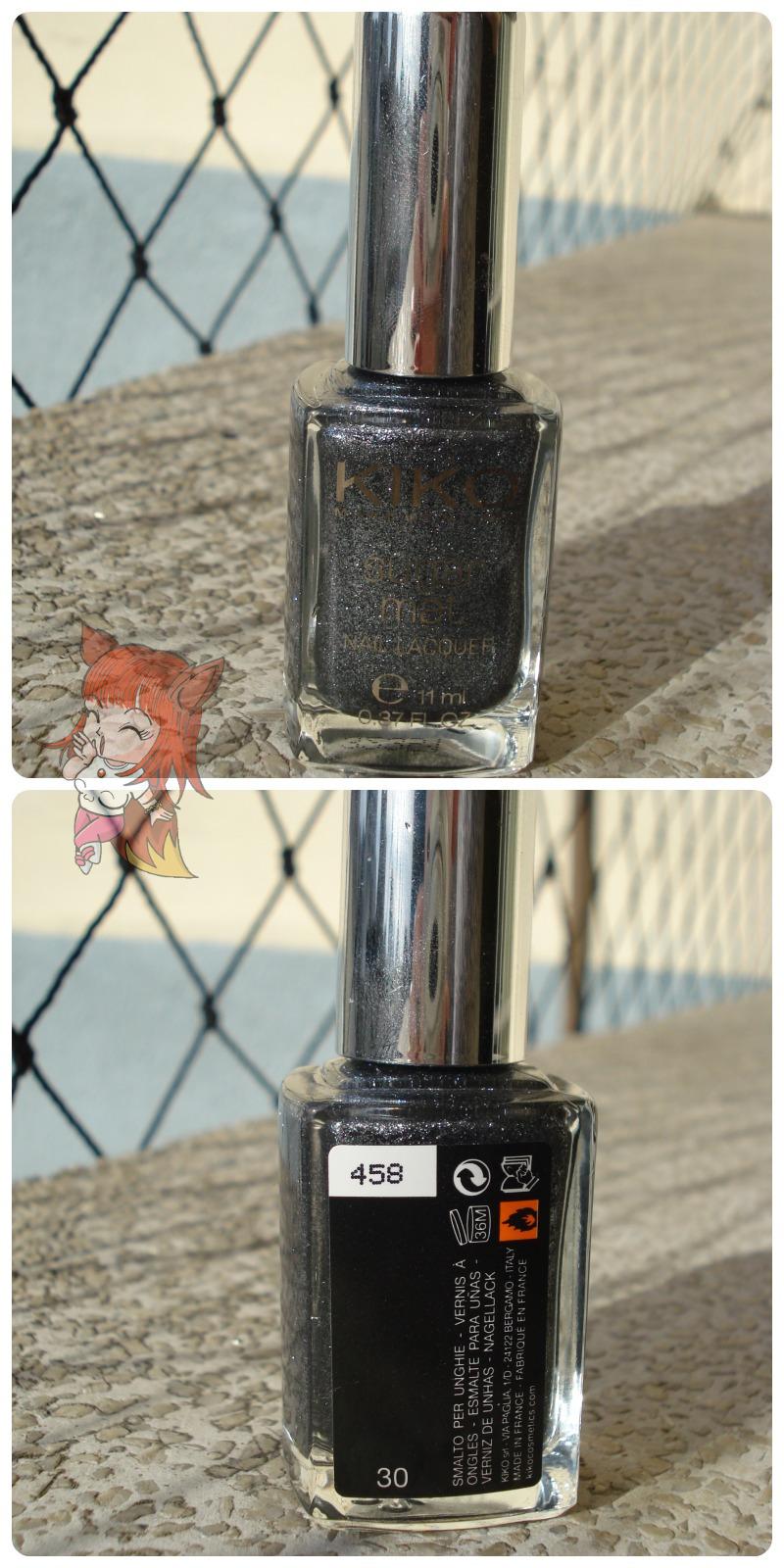 Esmalte Kiko 458 Anthracite Sugar Mat - Resenha
