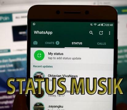 Cara Membuat status Lagu Musik MP3 di WhatsApp Mudah
