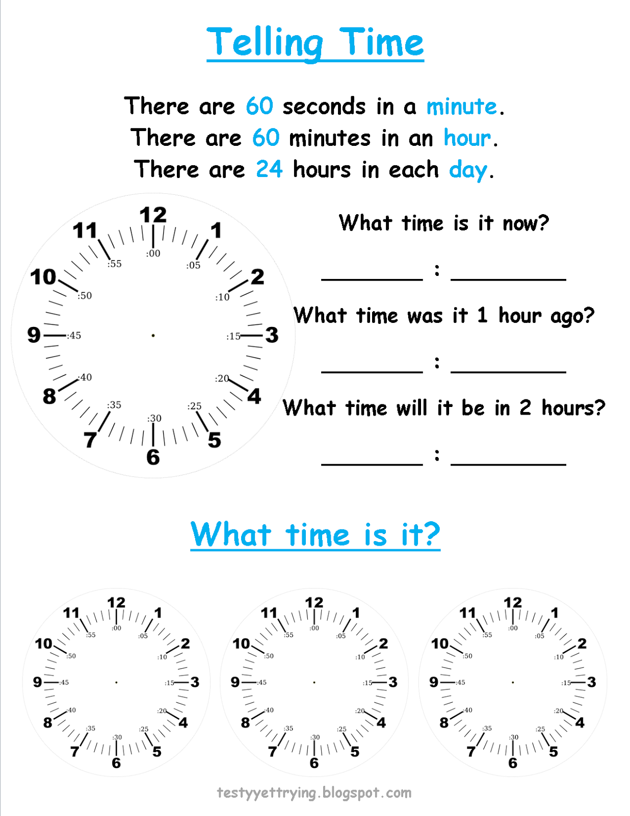 What Time Does Worksheets
