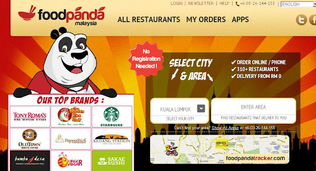 Foodpanda's Delivery Services Webpage