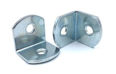 "Custom Stamped L Brackets - 3/4 X 3/4 X 3/4 In Steel Zinc At .125"" Material Thickness"