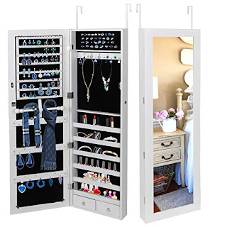 The Best Super Deal Jewelry Armoire Lockable Jewelry Cabinet