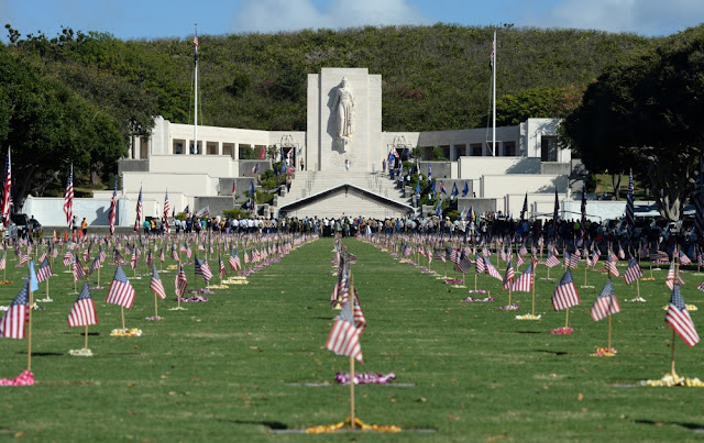 The National memorial Cemetery of the Pacific. Honolulu, Hawaii