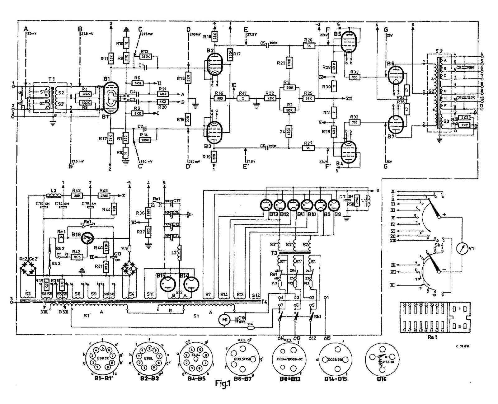 Retro Vintage Modern Hi Fi Phillips 1kw El Amplifier