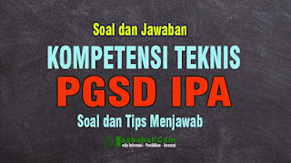 Soal Kompetensi Teknis Bidang IPA Guru PGSD. Kisi-kisi Soal dan Pembahasan Kompetensi Teknis P3K PGSD IPA. SOAL PGSD IPA P3K