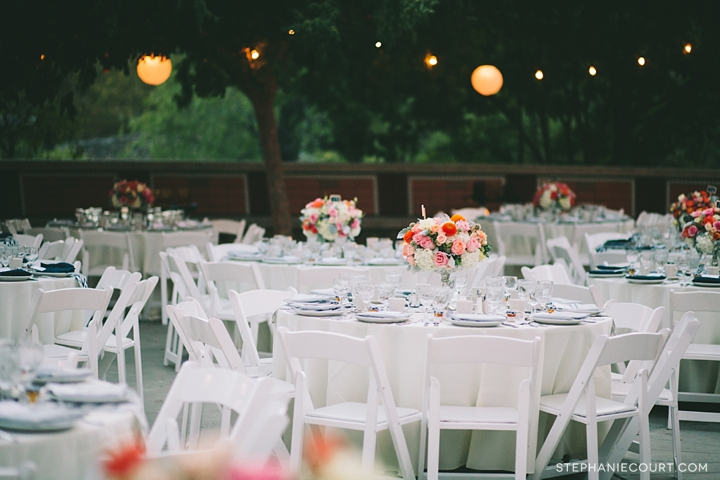 """romantic outdoor wedding reception"""