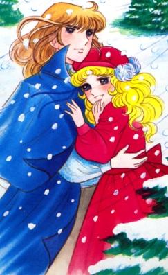 Candy recibiendo el abrazo de Terry