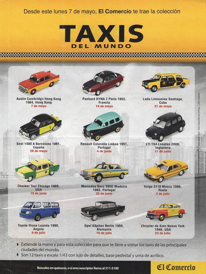 Pasi n a escala nueva colecci n taxis del mundo del for Coleccion cuchillos el mundo