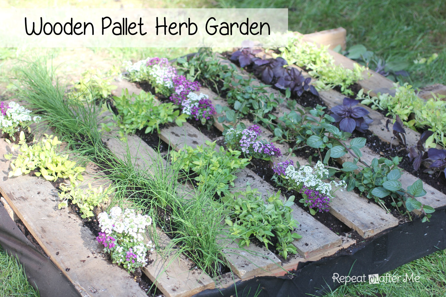 Wooden Pallet Herb Garden Repeat Crafter Me