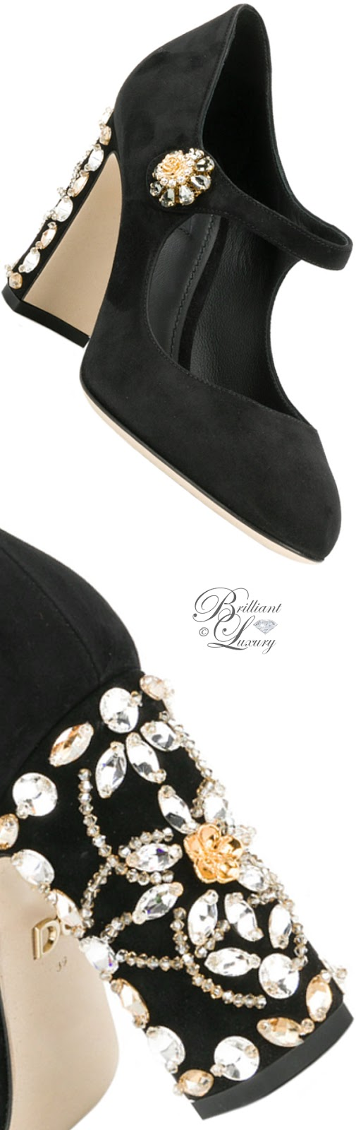 Brilliant Luxury ♦ Dolce & Gabbany Vally embellished pumps
