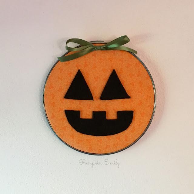 DIY Jack O Lantern Embroidery Hoop Art
