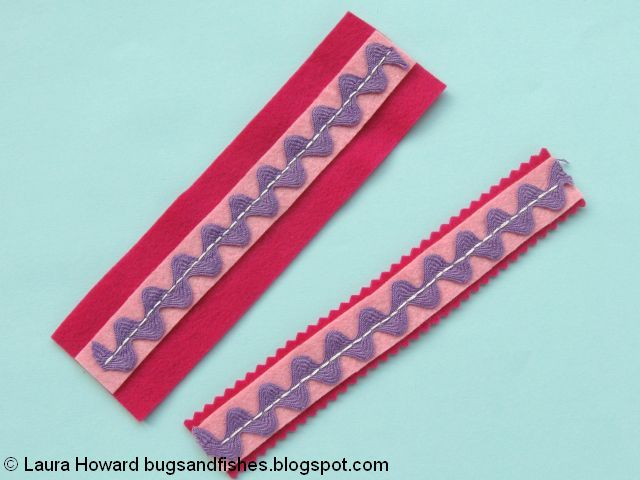 trim the felt with pinking shears