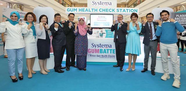 Kempen Pemeriksaan Kesihatan Gusi 1 Juta Gumbatte 2019  Systema Lancar Kempen Kesedaran Pemeriksaan Kesihatan Gusi untuk Bantu Menambah Baik Kesihatan Oral Rakyat Malaysia, Kolaborasi dengan Persatuan Doktor Pergigian Malaysia