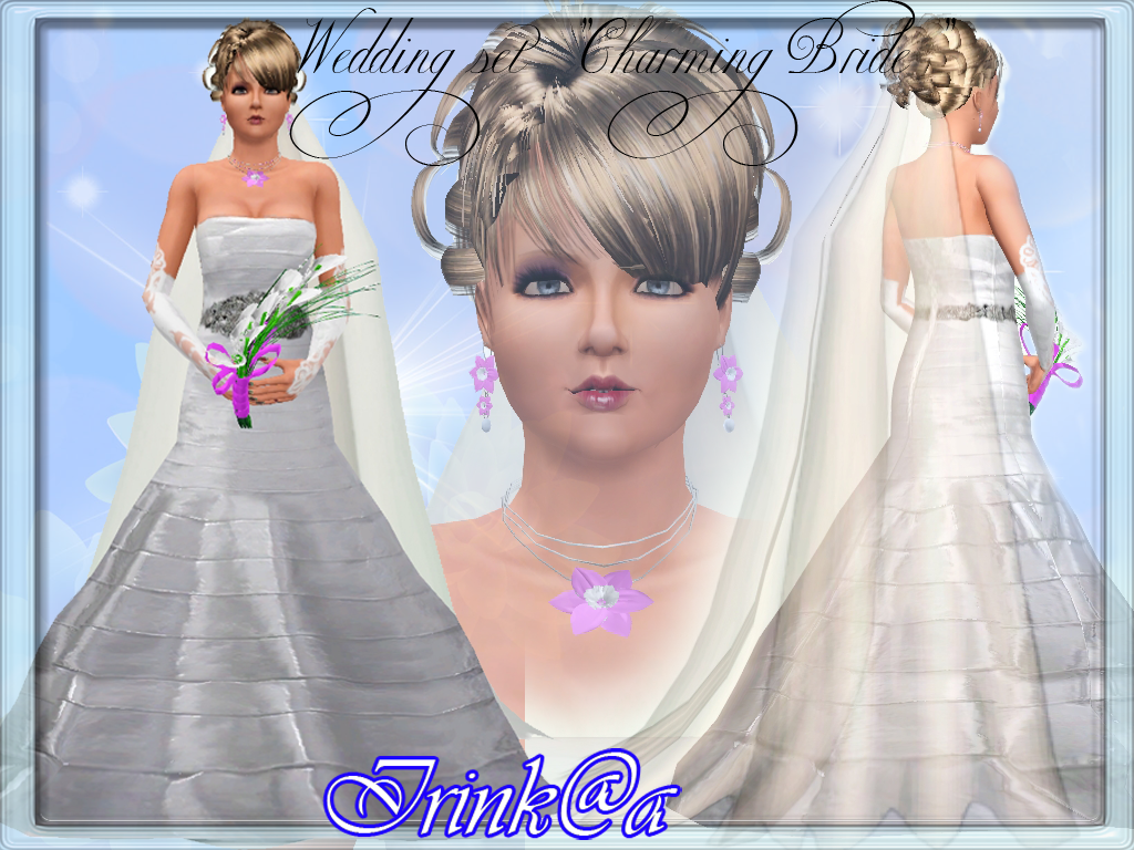 Wedding Hair The Sims 3 Sims3updates Cas 9344 L Cf924 1 Set Charming Bride By Irink 2540a