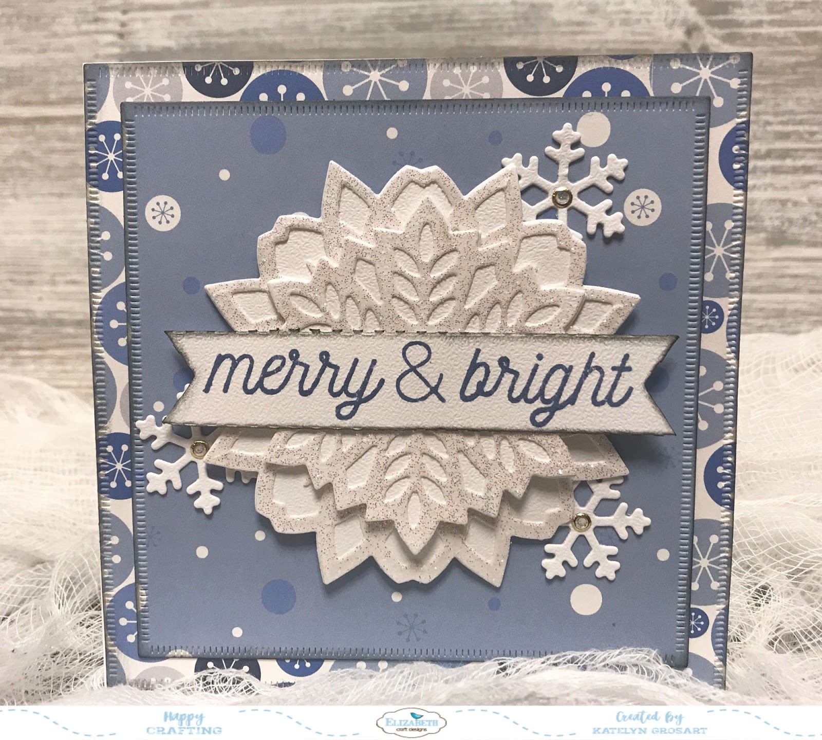 Christmas Notecard.A Creative Journey Merry Bright Christmas Notecard