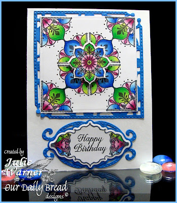 Stamps - Ornate Borders and Flowers, Ornate Borders Sentiments, ODBD Custom Decorative Corners Die, ODBD Custom Ornate Borders & Flower Die