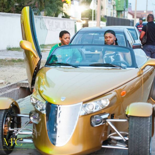 Flavour N'abania Bestie Chidinma in a car ride - Ebals blog