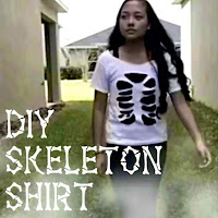diy skeleton shirt, diy halloween shirt, halloween diy ideas, halloween outfits, lauren banawa