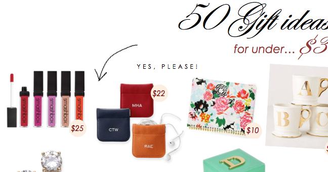 50 Gift Ideas Under $30