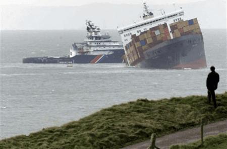 Yanlış konteyner ağırlık bildirimi nedeniyle yaşanan konteyner gemisi kazası