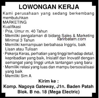 Berikut ini adalah informasi Lowongan kerja, lowker, Loker, serta Bursa Karir Batam Agustus 2017.