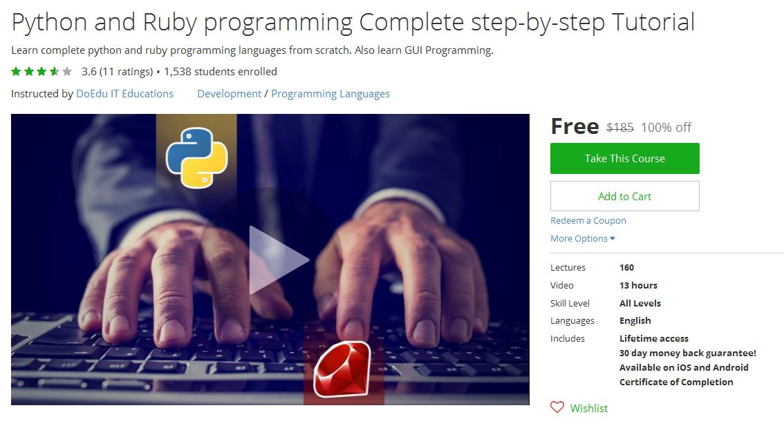 Udemy Complete Python 3 For Beginners To Advanced