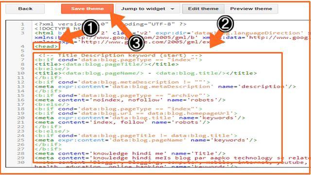 Meta Tags Code Blogger Blog  में कैंसे Add करें SEO के लिए