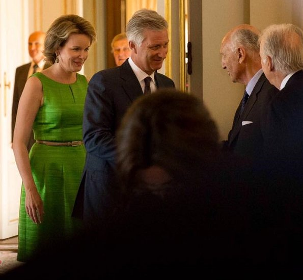 Queen Mathilde held a lunch at the Royal Palace in Brussels for the jury members of the Queen Elisabeth Cello Competition 2017